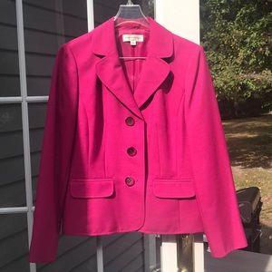 Pink Evan Picone two piece skirt suit